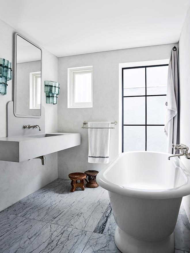 "**Designer Tamsin Johnson** says ""This fresh, fun yet [elegant bathroom](https://www.homestolove.com.au/ensuite-bathroom-design-ideas-18820