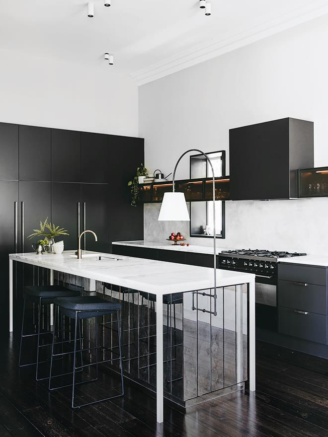 "**Designer Sophia Leopardi** says ""With little room to move in terms of footprint, contrast and layering were used in both detailing and materiality to transform a [French provincial kitchen](https://www.homestolove.com.au/french-provincial-kitchens-6332