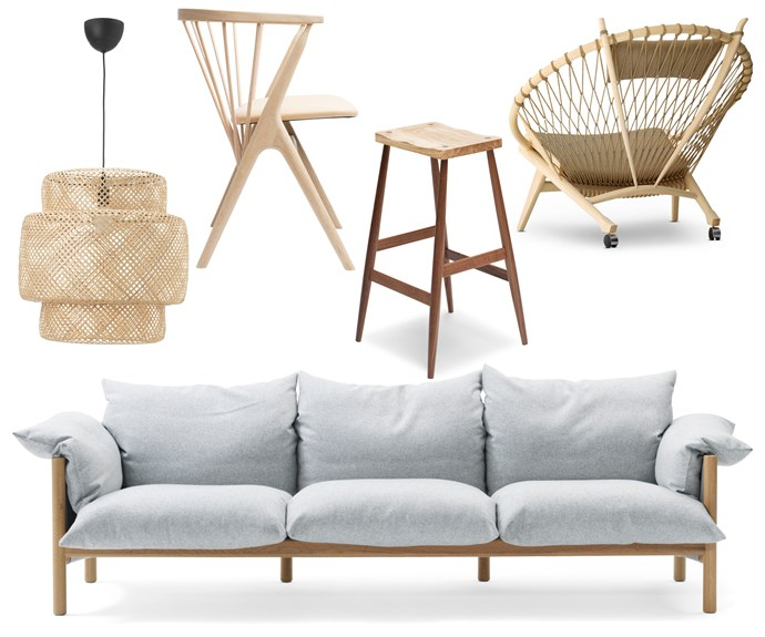 "**Work of art** Designer pieces in sculptural forms give this breezy beach house a classic Scandi vibe. Natural timber ties the look together. **Get the look** (clockwise left to right) 'Sinnerlig' pendant light, $89, [IKEA](https://www.ikea.com/|target=""_blank""