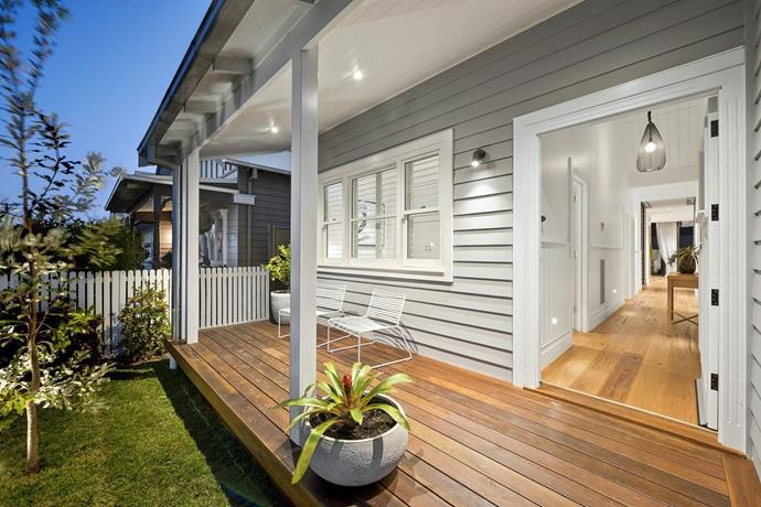 """Sticks and Wombat took out the win during [front garden and facade week](https://www.homestolove.com.au/the-block-2017-facades-and-front-gardens-5902 target=""""_blank""""). *Photo: Domain*"""