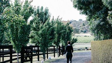 Horse lover's formal garden near Hanging Rock, Victoria