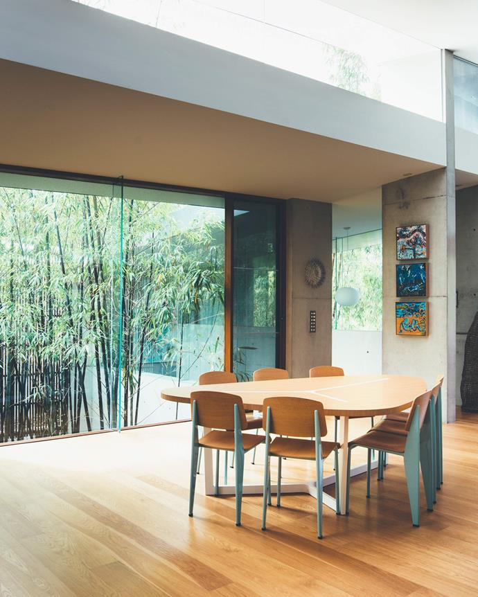 "The size and location of openings was carefully considered to allow views and light penetration on one hand and screening views to the neighbouring houses on the other. ""The owners wanted a robust house that mediated the climate while also requiring minimal effort to maintain,"" says David. 