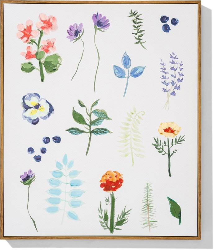 **Wall art** flora, $59.95.