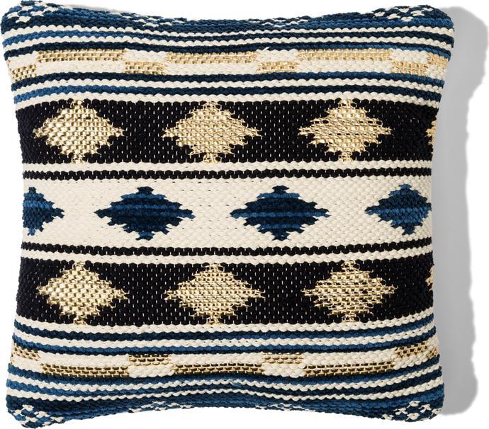 Geometric print **cushion**, $29.95.