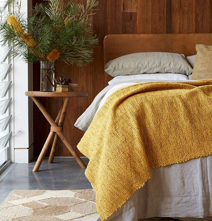 Clearly inspired by her natural surrounds, Shelley has incorporated timber, concrete and sunny yellow hues into every room in her home.