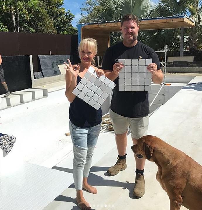 For the garden and pool area, Shelley enlisted none other than The Block landscaping guru Dave Franklin.