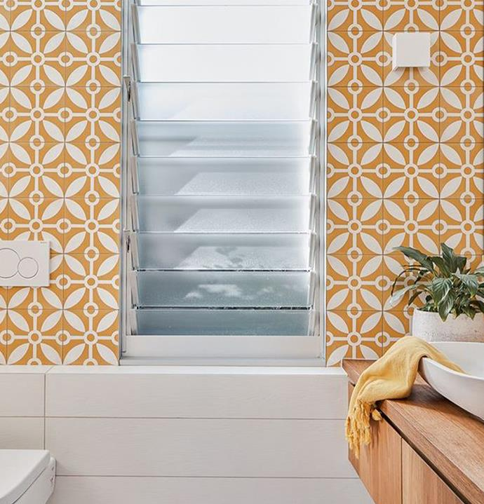 """I love a breeze anytime of year, open it up and let the freshness in!! We used louvres in the bedroom and the bathroom in our studio,"" said Shelley."