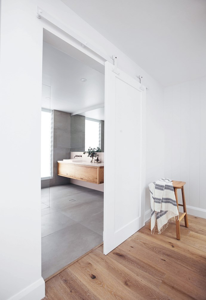 "**Sliding doors** Ideal when working within limited floorspace, or for breaking up an expanse of white walls, an oversized barn door is a chic element that adds interest and a hint of rustic style to a contemporary space. An all-white version from Corinthian Doors complements the sun-filled Scandi feel in this home by *The Block*'s Kyal and Kara, but timber and contrasting colours will also work well. *Design & build: [Diverse Design & Construct](http://www.diverseconstruct.com/|target=""_blank""