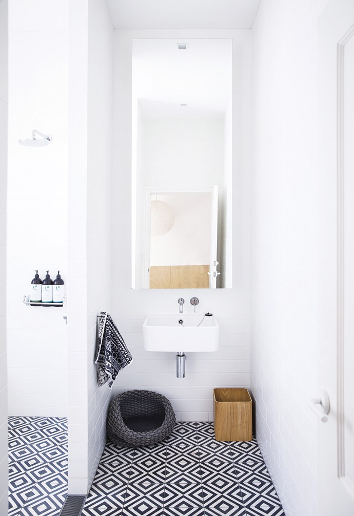 "**Less is more** A wall-hung basin feels visually light, with an open shower adding to the sense of space. A large mirror will make any space feel bigger. *Design: [Architect Prineas](http://architectprineas.com.au/|target=""_blank""