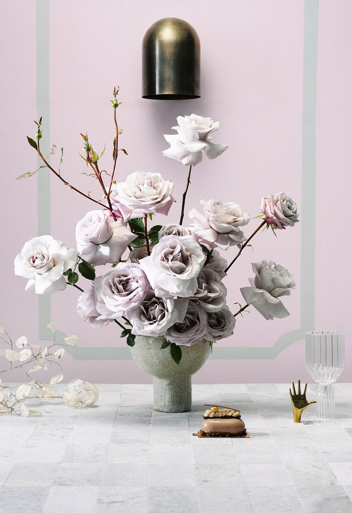 "**Traditional** ""Arrange Antique roses in different stages of bloom and at varying heights to create a bold impact""  — Myra Perez, Florist, [My Violet](http://www.myviolet.com.au/