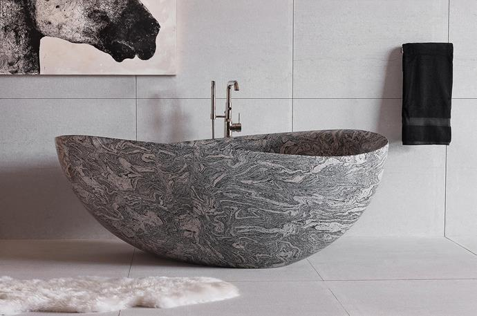 Like the idea of a statement bath? Check out Gallaria range of one of a kind, high end  designs.