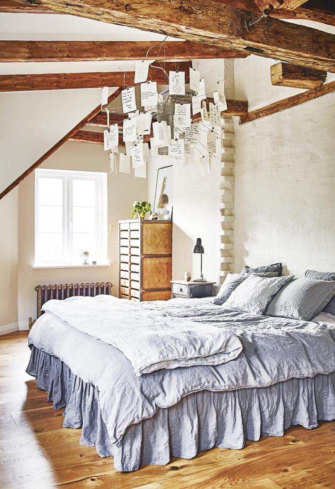 """**Bright idea** The bedroom is the ideal place for personal touches. A 'Zettel'z 6' light by Ingo Maurer (try [Space Furniture](https://www.spacefurniture.com.au/