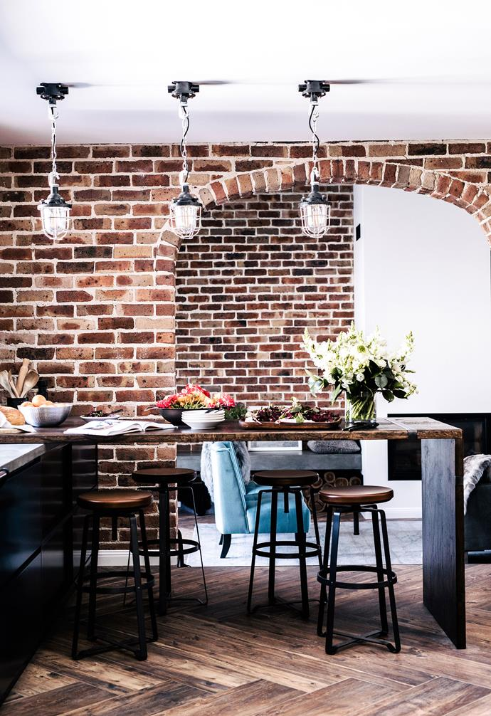 "**Kitchen** The contrast in materiality of the timber island with concrete kitchen bench ties in seamlessly with the rustic palette of the home. Pendant lights, [Fat Shack Vintage](https://www.fatshackvintage.com.au/|target=""_blank""