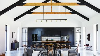 Step inside this cosy country farmhouse with modern interiors