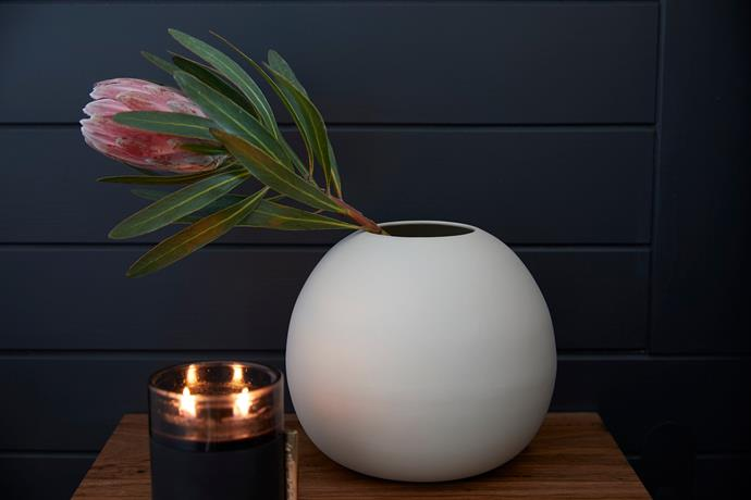 """Chalk white bubble **vase**, $22, from [Retrojan](https://www.retrojan.com.au/buy-chalk-white-bubble-vase-s.html