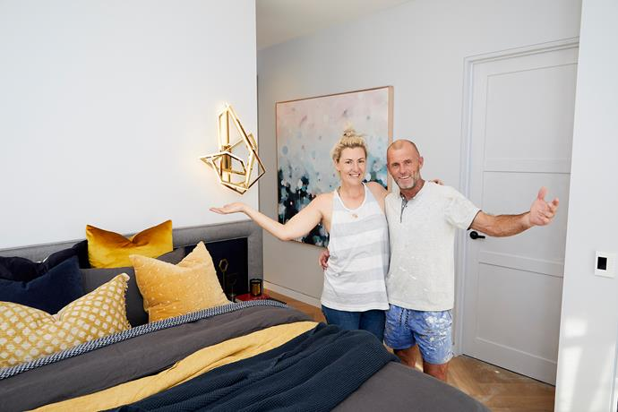 """**Jess and Norm** tied with Carla and Bianca for second place this week – although they too weren't immune to some 'constructive criticism' from the judges. Darren loved the [unexpected colour palette](https://www.homestolove.com.au/unexpected-colour-combinations-that-work-1890