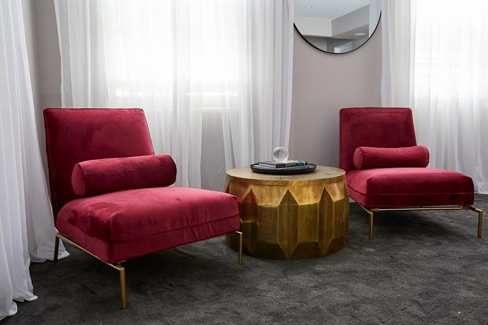 "Vittoria Tivoli occasional **chair**, $1595, from [Globe West](https://www.globewest.com.au/vittoria-tivoli-occasional-chair|target=""_blank""|rel=""nofollow""). 'Vionnet' carved **coffee table**, $2065, from [Globe West](https://www.globewest.com.au/vionnet-carved-coffee-table|target=""_blank""|rel=""nofollow""). Cut **glass ball**, $15, from [Myer](https://www.myer.com.au/shop/mystore/cut-glass-decor-ball-7cm-425751490|target=""_blank""|rel=""nofollow"")."
