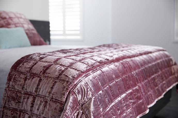 "Sheridan 'Canfield' velvet **bed cover** in rosewood, $349.95 (Queen), available at [David Jones](https://www.davidjones.com/Product/21527329/CANFIELD-BEDCOVER|target=""_blank""|rel=""nofollow"")."