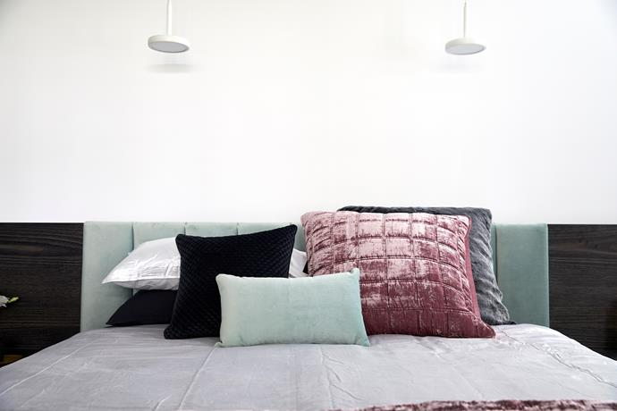 "'Mystere' **cushion** in seaspray, $35 (30x 50cm), from [Newline Cushions](https://newlinecushions.com.au/product/mystere-seaspray/|target=""_blank""|rel=""nofollow"")."