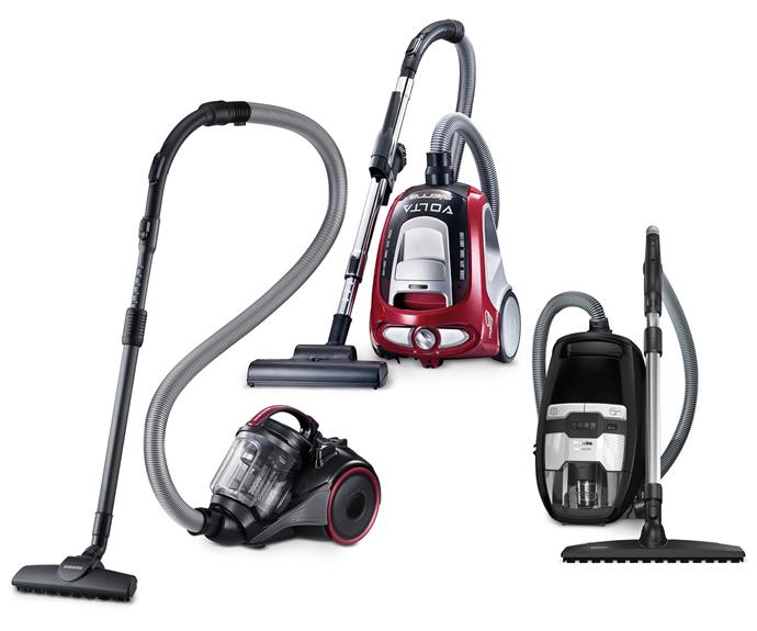 "**Cannister vacuums** (left to right) Canister vacuum with anti-tangle turbine, $299, [Samsung](https://www.samsung.com/au/|target=""_blank""