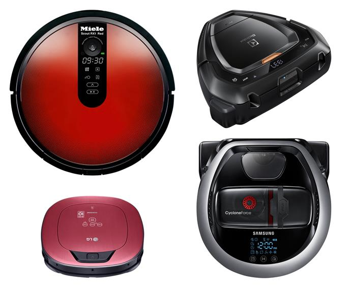 "**Robot vacuums** (clockwise left to right) 'Scout RX1' robot vacuum, $999, [Miele](https://www.miele.com.au/|target=""_blank""