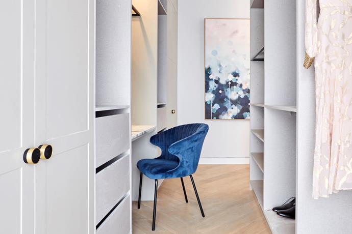 A luxurious walk-in wardrobe will always wow potential buyers.
