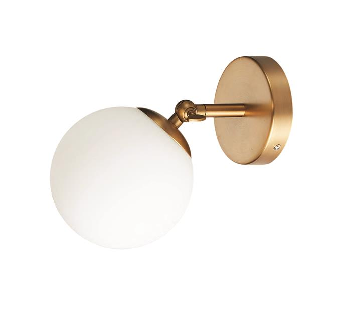 """Home Design """"Mondo"""" wall light, $64, [Bunnings](https://www.bunnings.com.au/home-design-mondo-wall-light_p0013002 target=""""_blank"""" rel=""""nofollow"""")"""
