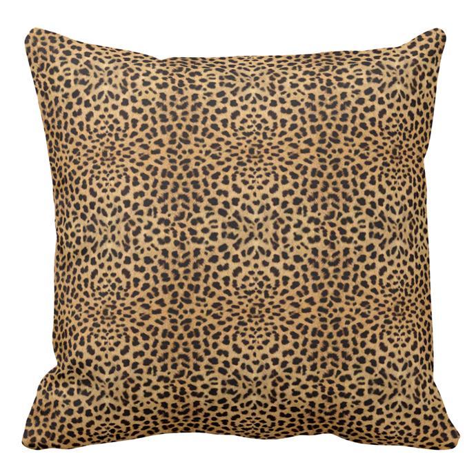 "Leopard print cushion, $73.90, [Zazzle](https://www.zazzle.com.au/s/leopard+print+cushions target=""_blank"" rel=""nofollow"")"