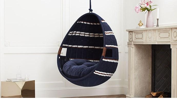 'Moze' indoor swing **chair**, $1907.28