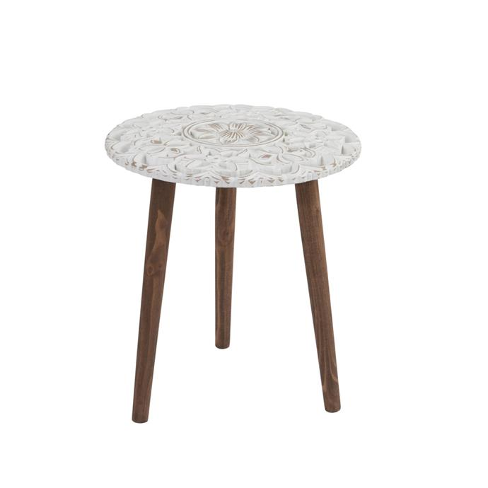 "Wild flower **table**, $89.95 (large), from [Pillow Talk](https://fave.co/2CkB4zM|target=""_blank""