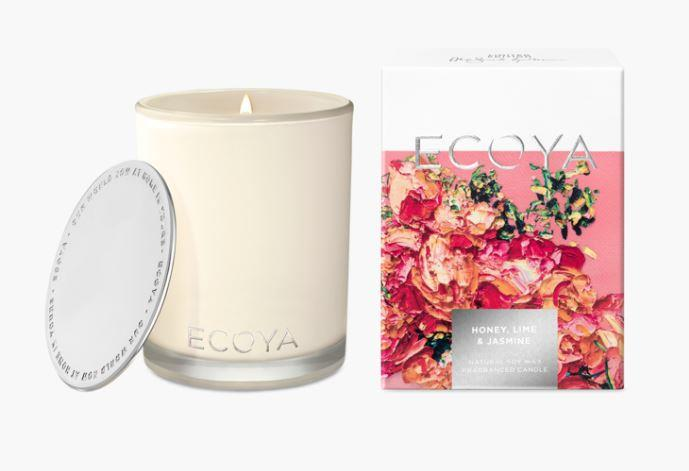 "Honey, lime and jasmine scented **candle**, $42.95, from [Ecoya](https://www.ecoya.com.au/collections/new-in/products/honey-lime-jasmine-madison-jar|target=""_blank""