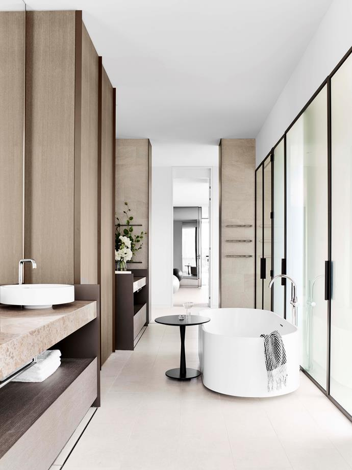 """While the [apartment is an entertainer's dream](https://www.homestolove.com.au/a-sophisticated-entertainers-penthouse-in-brighton-18857