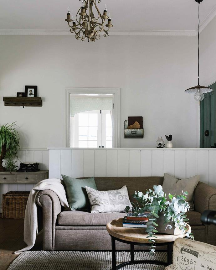 """The Kingston coffee table is from [Provincial Home Living](https://www.provincialhomeliving.com.au/ target=""""_blank"""" rel=""""nofollow""""). The [Upholstery House](http://theupholsteryhouse.com.au/ target=""""_blank"""" rel=""""nofollow"""") re-covered Sandy's old sofa. *Photography: Marnie Hawson*"""