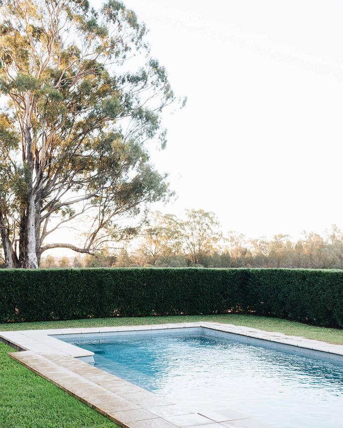 The pool was added to the property in 2011. *Photography: Abbie Melle*
