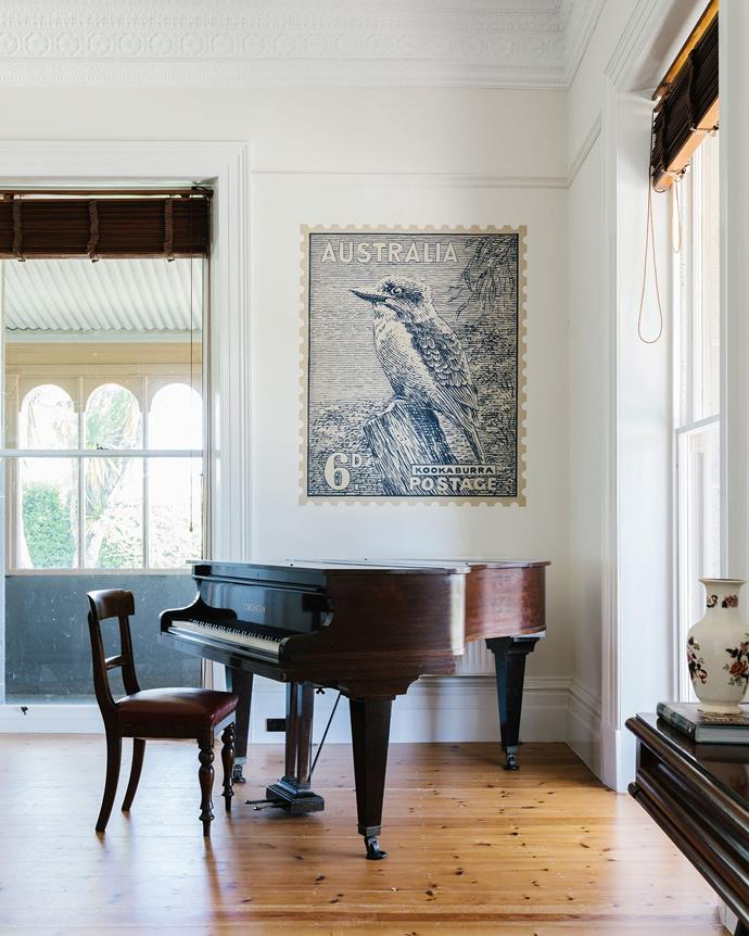"A Kookaburra adhesive wall stamp from [Quercus and Co.](https://www.quercusandco.com/|target=""_blank""