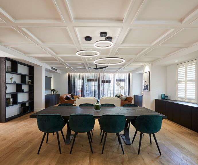 **Kerrie and Spence** The judges felt that the addition of feature lighting and fan detracted from the coffered ceiling.