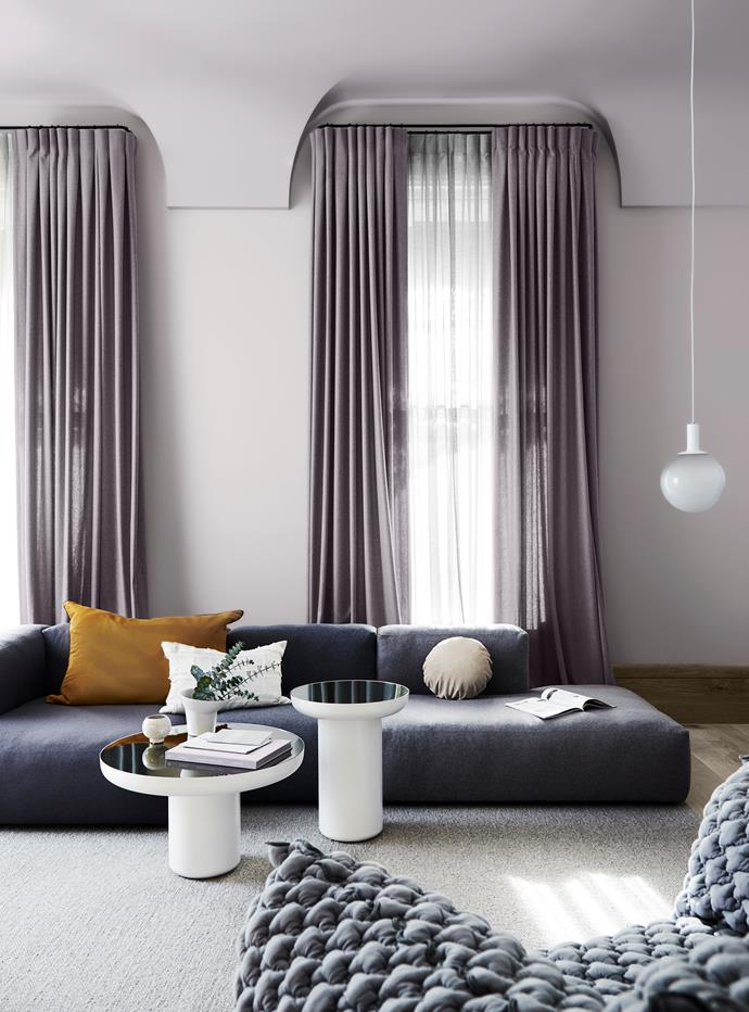 **Wall** in Dulux Silver Thaw; **Ceiling** in Madame Mauve