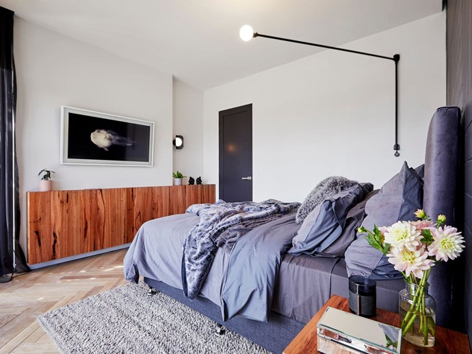 You can now have a TV in the bedroom, without it being a style faux pas thanks to Samsung's too-clever lifestyle TV, The Frame. *The Block*'s Carla and Bianca did just this, making it work [beautifully in their master bedroom](https://www.homestolove.com.au/the-block-2018-room-reveal-master-bedroom-shannon-vos-18905).