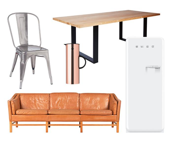 """**Industrial revolution** Get the New York look with statement furniture and metallics.**Get the look** (clockwise from left to right) Tolix 'Chaise A' chair, from $475, [Thonet](http://www.thonet.com.au/