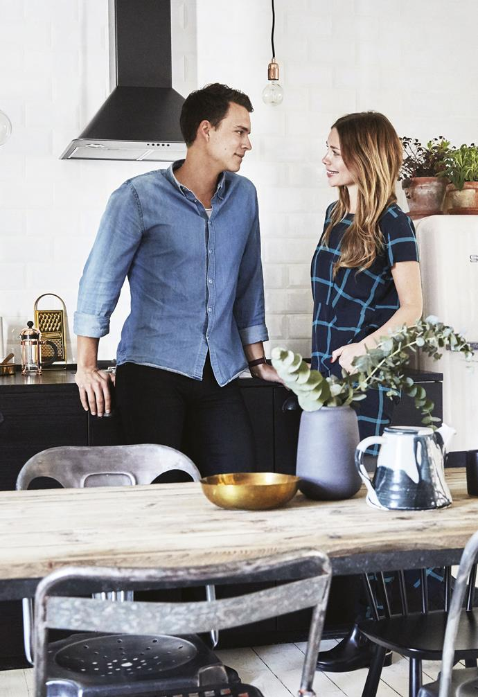 **Kitchen** Sofie and Mikael have both put their personal stamp on the home.