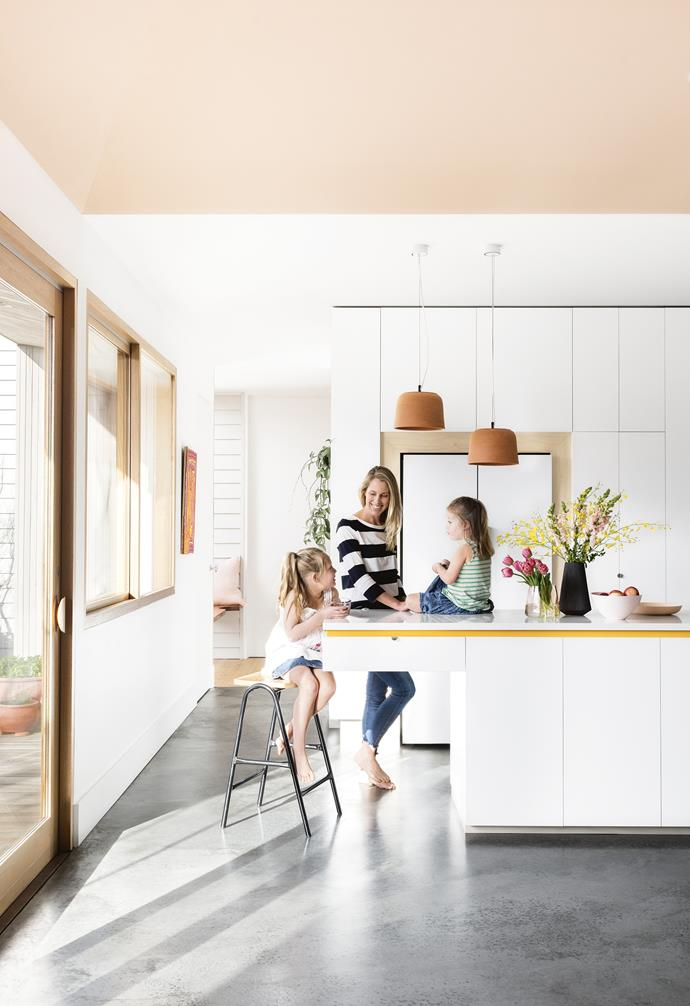 Homeowner Samara with her daughters Eve and Lola. Photography by Martina Gemmola. Styling by Ruth Welsby. Photographer: Martina Gemmola, Stylist: Ruth Welsby