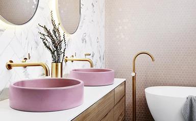 Millennial pink bathrooms that really make a splash