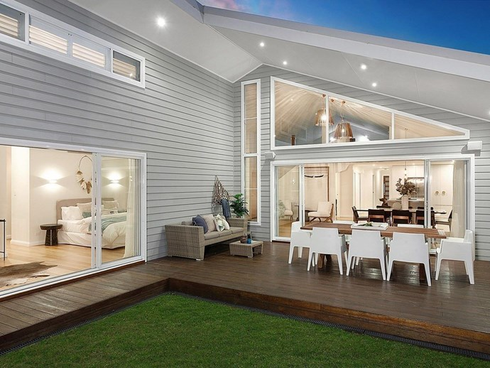 Seamless indoor-outdoor flow and an alfresco entertaining area is a must in any coastal home. *Photo: Domain*