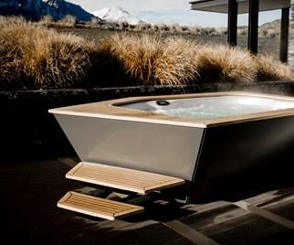 stylish spa bath