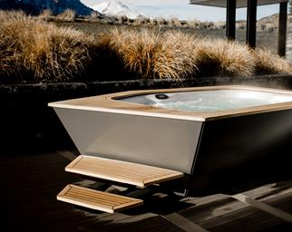 stylish spa bath