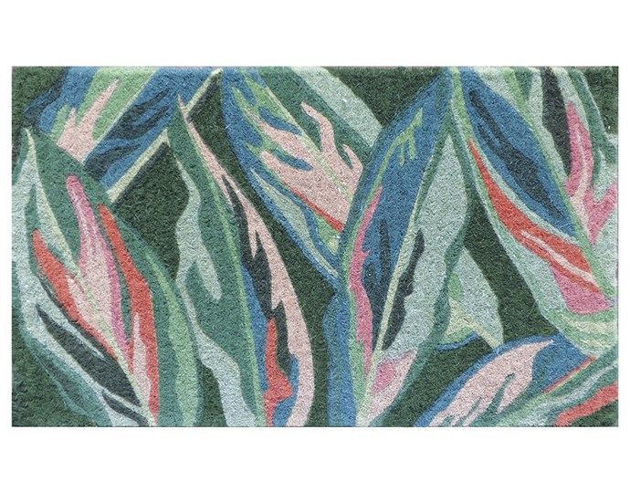 """**Put your foot down** Go beyond boring beige rectangles with wow-factor in the form of Doormat Designs' 'Bright Leaves' tropical doormat, $82.50, [French Knot](https://www.frenchknot.com.au/