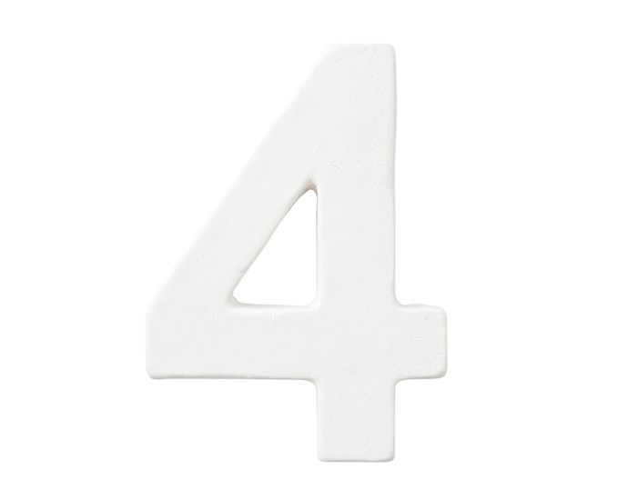 """**Number's up** Visitors and your postman alike won't miss you with a glazed Robert Plumb number, $70, [Robert Plumb](https://robertplumb.com.au/