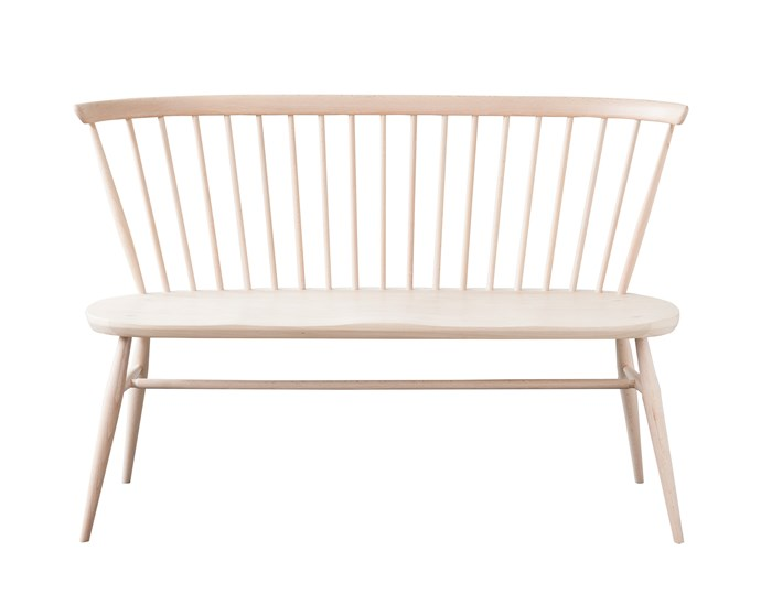 """**Add a seat you'll love** This timeless loveseat is made to last using sustainable timber and environmentally friendly lacquer. Find the Ercol 'Loveseat', $2110, at [Temperature Design](https://furniture.temperaturedesign.com.au/