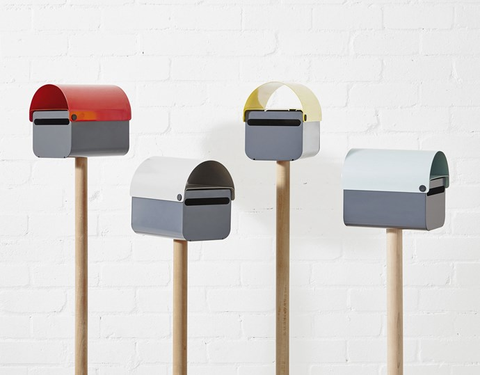 """**In the mail** The unexpected pop of colour from the 'TomTom' letterboxes, $149 each, plus posts, $125 each, will lift your mood every day. Visit [Design By Them](https://www.designbythem.com/