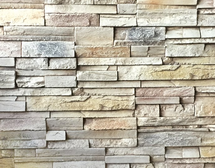"""**Stacks on** These clever interlocking 'Stacked' wall panels make for a dramatic backdrop, and are a lighter and cost-effective alternative to stone cladding. From $121/600mm x 1200mm, learn more at [Texture Panels](https://www.texturepanels.com.au/